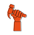 hand holding hammer tool icon image vector image vector image