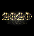 happy new year 2020 light bulb numbers design vector image vector image