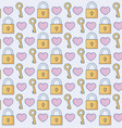 hearts and padlocks background vector image vector image