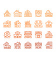 house simple color line icon exterior set vector image vector image
