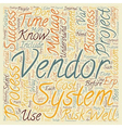 How to Select and Implement an ERP System text vector image vector image