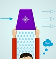 Ice Bucket Challenge Colored flat vector image