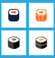 icon flat maki set of gourmet japanese food vector image