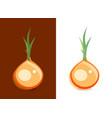 icon of onion vegetable on dark and white vector image vector image