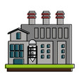 industrial plant factory vector image