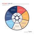 infographic circle chart template seven vector image vector image