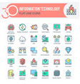 information technology icons vector image vector image