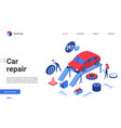 isometric car repair service vector image