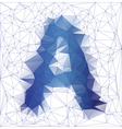 letter a low poly2 vector image vector image
