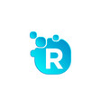 letter r bubble logo template or icon vector image vector image