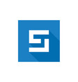 letter s logo design blue s letter icon vector image vector image