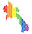 lgbt spectrum dot laos map vector image