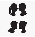 man woman face silhouettes vector image vector image