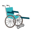medical wheelchair cartoon vector image
