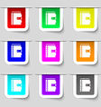 notebook icon sign Set of multicolored modern vector image