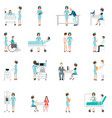 nurse healthcare decorative icons set with vector image vector image