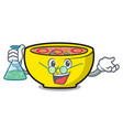 professor soup union character cartoon vector image vector image