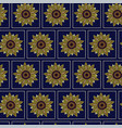 seamless pattern graphic sunflower in dots vector image vector image
