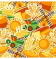 Seamless pattern with agricultural objects vector image vector image