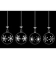 set of christmas balls vector image vector image