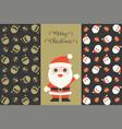set santa claus and gift boxes seamless pattern vector image
