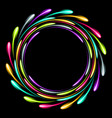 shining glowing neon ring abstract background vector image