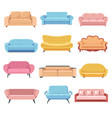 sofas for interior design furniture for home or vector image