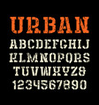 stencil-plate serif font in urban style vector image vector image