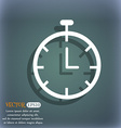 Stopwatch icon On the blue-green abstract vector image