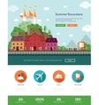 Summer vacation traveling website template with vector image vector image
