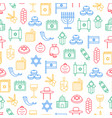 symbol of israel seamless pattern background vector image vector image
