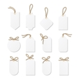 Tags and labels with rope bows ribbons vector image vector image