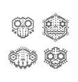 tiki gods masks vector image vector image