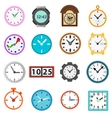 Time and Clock icons set simple style vector image