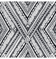 Tribal doddle rhombus seamless background vector image vector image