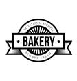 Vintage retro bakery logo badge vector image vector image