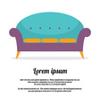 Vintage Sofa vector image vector image