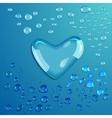 Waterdrop Heart vector image vector image