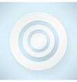 white paper round bubble vector image vector image