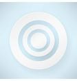 white paper round bubble vector image