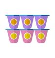Yogurt flat icon vector image