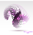 Abstract colorful geometric purple background vector image