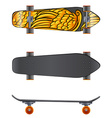A skateboard in different angles vector image