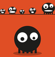 Cute monsters halloween background vector image