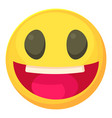 laughing smiley icon cartoon style vector image
