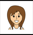 people happy face woman icon vector image