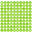 100 basketball icons set green circle vector image vector image
