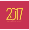 2017 Happy new year vector image