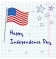 4th july greating card vector image vector image