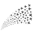 air plane source stream vector image vector image